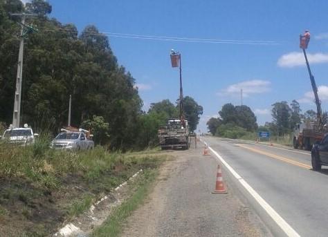 Rede CELETRO travessia de rodovia